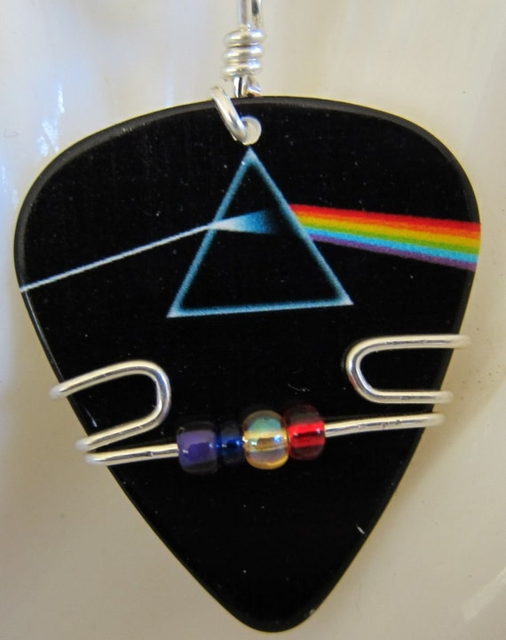 pink floyd guitar pick jewelry by twistedpicks on etsy. Black Bedroom Furniture Sets. Home Design Ideas