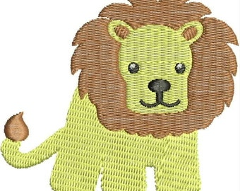 Lion Embroidery Design, Baby Animal, Cute, Infant, Machine Embroidery Design