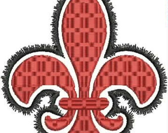 Outline Fleur de Lis Machine Embroidery