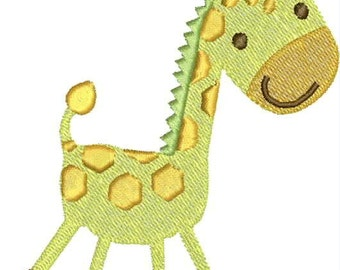 Baby Giraffe Embroidery Design, Baby Animal, Cute, Infant,  Machine Embroidery Design