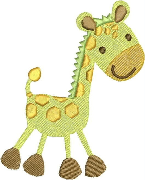 Baby giraffe embroidery design animal cute infant