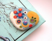 Felt  Brooch and Necklace 2 in 1 Chemistry of love - needle felted brooch necklace ooak
