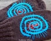 Braun mittens - warm and beautiful