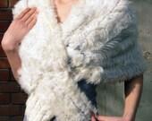 Luxury Brooken White Stole