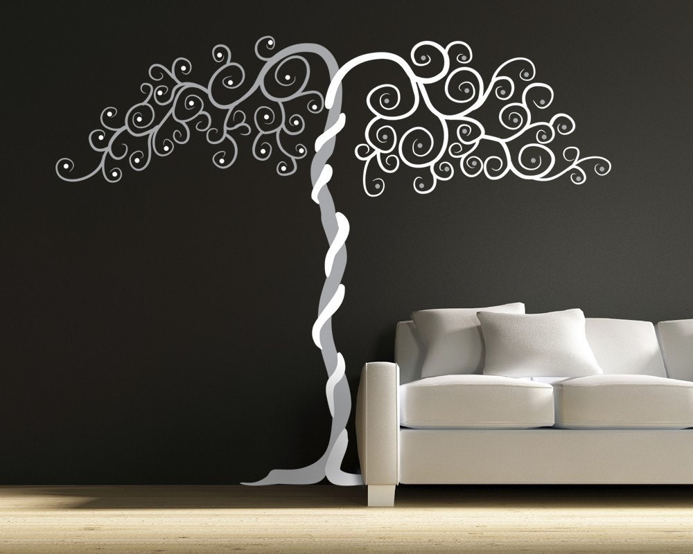 Wall Art Decor Vinyl : Vinyl wall art tree decal tango