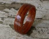 Handmade Bentwood Bubinga Wood Ring