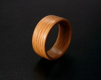 Handmade Bentwood Red Oak Ring