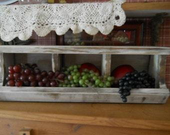 Primitive Farmhouse Kitchen Cubby