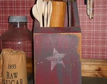 Primitive Farmhouse Kitchen Rolling Pin Cubby