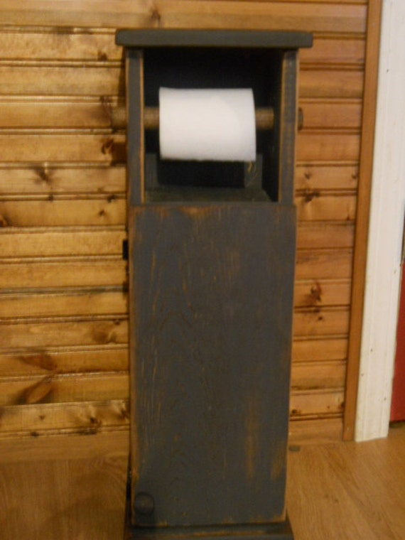 primitive toilet paper holder items similar to primitive farmhouse toilet paper holder 62131