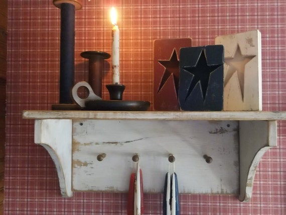 Primitive Rustic Farmhouse Shelf