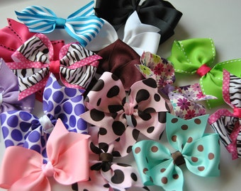 Hair bow grab bag, Hair bow Headband Hair clip grab bag, Girls hair bow grab bag, Toddlers hair bow grab bag, Hair Clip Grab bag, 10 pieces