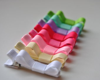 Rainbow Hair clips, Infant hair clips, Toddler hair clips, Clippees, Set of 8 PASTEL hair clips