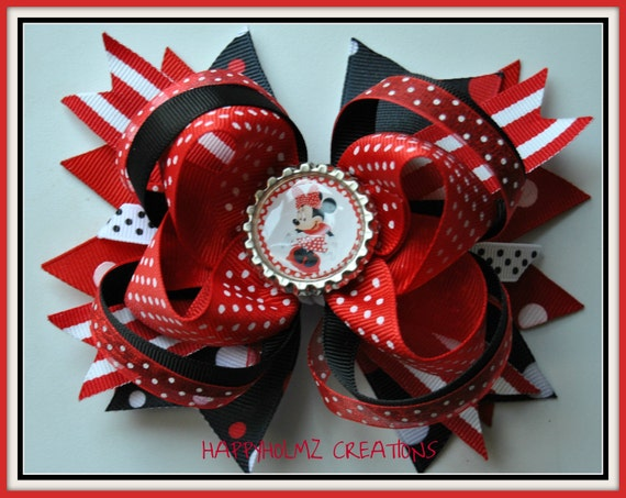 Minnie Mouse inspired Layered Boutique Bow