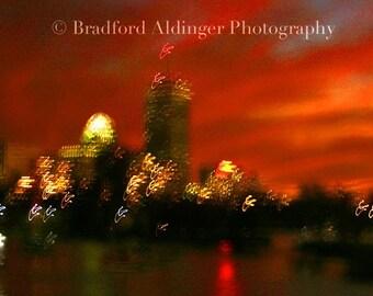 Abstract Boston Skyline - Photograph