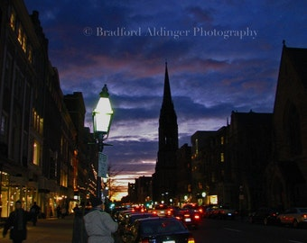 Twilight over Newbury Street - Photograph