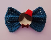 Doctor Who Hair Bow/ BowTie (Color: Tardis Blue)