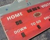 Sports Scoreboard Custom Rustic Board Sign - Football Basketball Baseball Hockey Decor