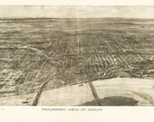 Vintage Map - Omaha, Nebraska 1905
