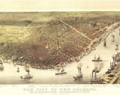 Vintage Map - New Orleans, Louisiana 1885