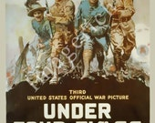 World War 1 Poster - Under four flags Third United States official war picture.