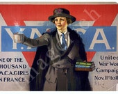 World War 1 Poster - One of the thousand Y.M.C.A. girls in France ...
