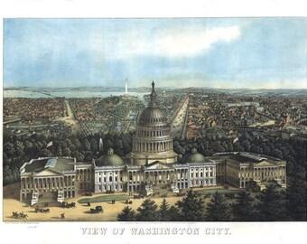 Vintage Map - Washington DC 1871