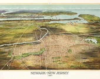 Vintage Map - Newark, New Jersey 1916