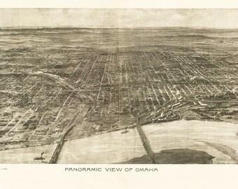 Vintage Map - Omaha, Nebraska 1905