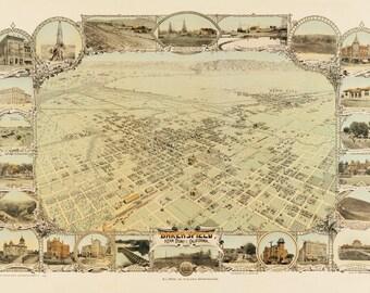 Vintage Map - Bakersfield, California 1901