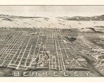 Vintage Map - Berkeley, California 1909