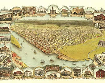 Vintage Map - Erueka, California 1902