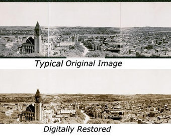 Prescott, Arizona 1909 Panoramic photo reproduction