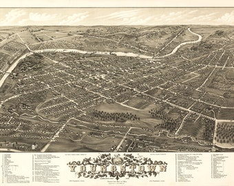 Vintage Map - Youngstown, Ohio 1882