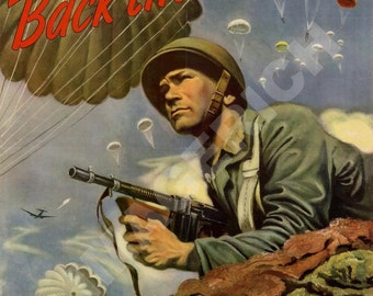 World War II Poster -  Back the Attack