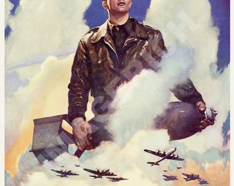World War II Poster -  O'er The Ramparts We Watch - U.S. Army Air Forces