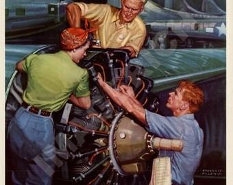 World War II Poster -  The Sky's The Limit - Keep Buying War Bonds