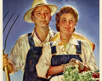 World War II Poster - Work On A Farm This Summer - Join The U.S. Crop Corps