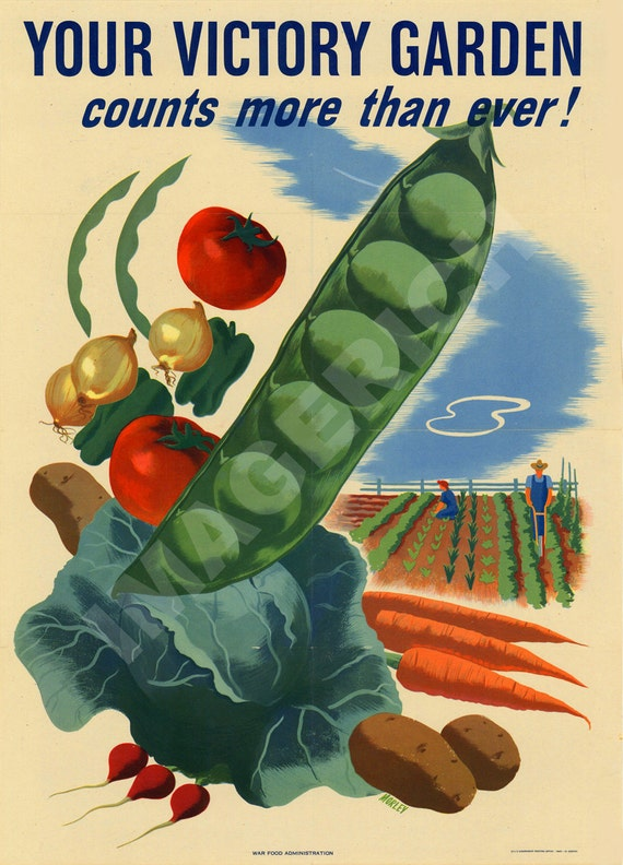 World War II Poster Your Victory Garden Counts More Than