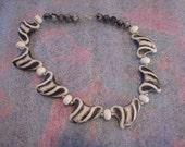 Funky Vintage Fun Zebra Necklace