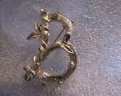 Vintage Pin Sarah Coventry Initial B Branch Motif Brooch