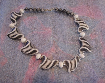 Funky Vintage Fun Zebra Necklace