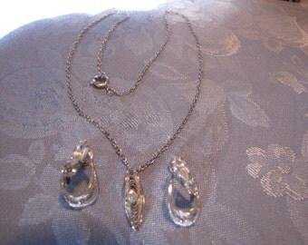 Vintage Lang Sterling Silver Necklace Earrings