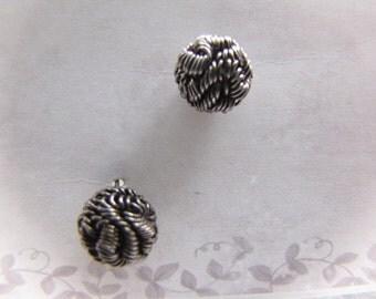 Petite Vintage Brillo Pad Wire Ball Earrings Petite Pierced Steampunk