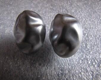 Vintage Silver Faux Fresh Water Pearls Earrings Pierced