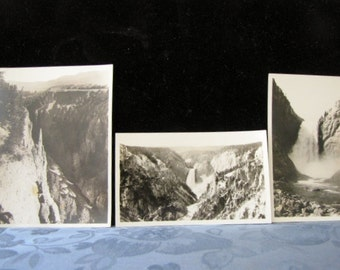 Antiques Photos Yellowstone Park Falls Needle Haynes copyright