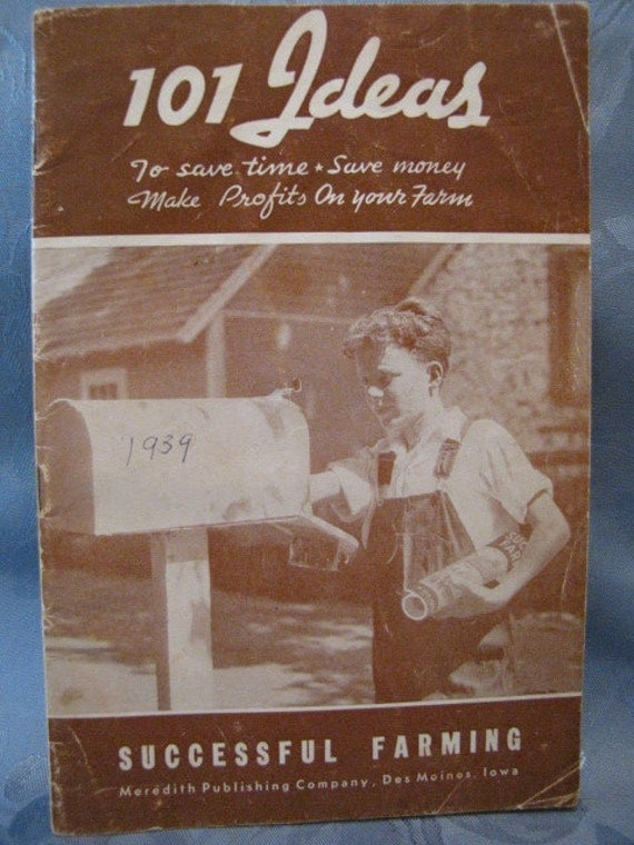 1939 Vintage Successful Farming 101 Ideas Booklet Profits on your Farm