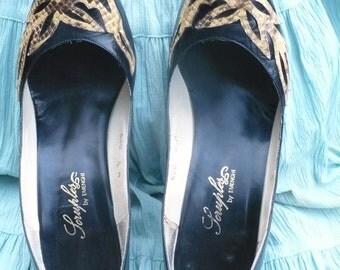 Scruples 80s Vintage Leather Designer Pin Up Stilettos size 8 M by KitKatCabaret on Etsy