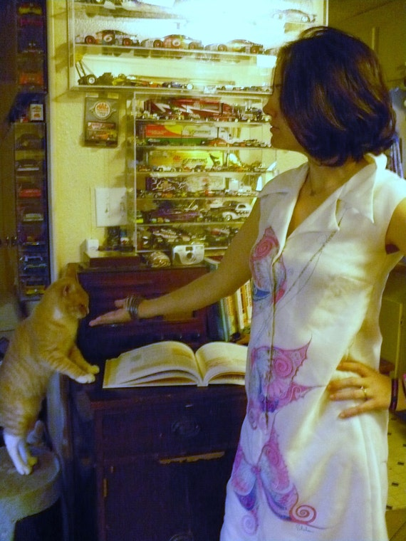 1960s Alfred Shaheen Butterfly dress size M by KitKatCabaret on Etsy
