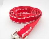 Red Velvet Fur trimmed Holiday Dog Leash
